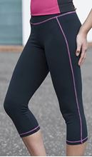 Picture of Girlie Cool Capri Jet Black - Hot Pink