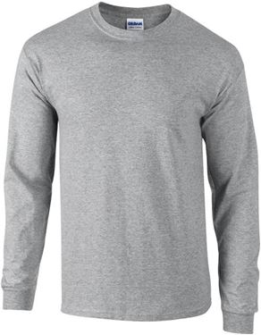 Picture of Ultra Cotton Adult Long Sleeve T-shirt Gildan Sport Grey