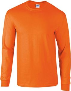 Afbeelding van Ultra Cotton Adult Long Sleeve T-shirt Gildan Safety Orange