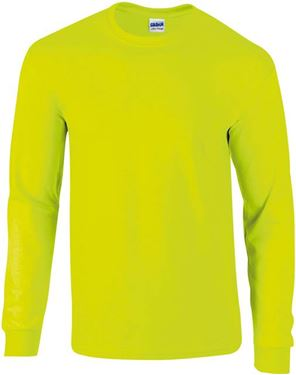 Picture of Ultra Cotton Adult Long Sleeve T-shirt Gildan Safety Yellow