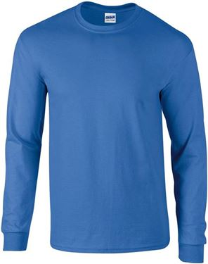 Picture of Ultra Cotton Adult Long Sleeve T-shirt Gildan Royal