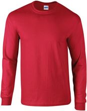 Picture of Ultra Cotton Adult Long Sleeve T-shirt Gildan Red