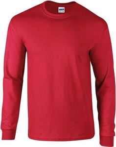 Afbeelding van Ultra Cotton Adult Long Sleeve T-shirt Gildan Red