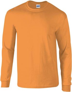 Picture of Ultra Cotton Adult Long Sleeve T-shirt Gildan Orange