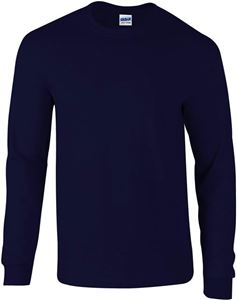 Afbeelding van Ultra Cotton Adult Long Sleeve T-shirt Gildan Navy