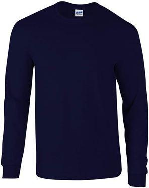 Picture of Ultra Cotton Adult Long Sleeve T-shirt Gildan Navy
