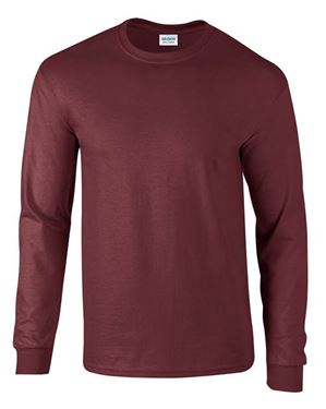 Picture of Ultra Cotton Adult Long Sleeve T-shirt Gildan Maroon