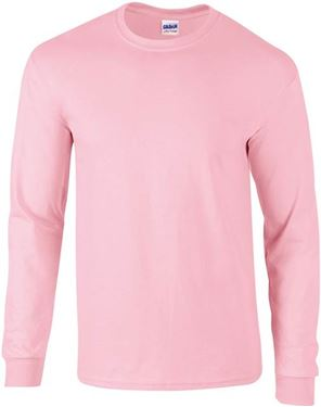 Picture of Ultra Cotton Adult Long Sleeve T-shirt Gildan Light Pink