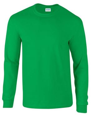 Picture of Ultra Cotton Adult Long Sleeve T-shirt Gildan Irish Green