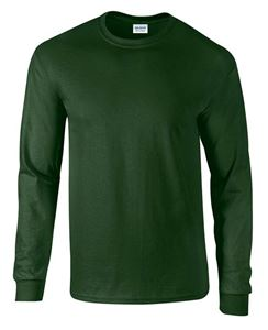 Afbeelding van Ultra Cotton Adult Long Sleeve T-shirt Gildan Forrest Green