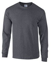 Picture of Ultra Cotton Adult Long Sleeve T-shirt Gildan Dark Heather