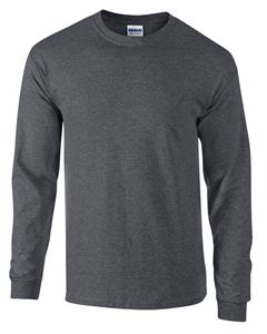 Afbeelding van Ultra Cotton Adult Long Sleeve T-shirt Gildan Dark Heather