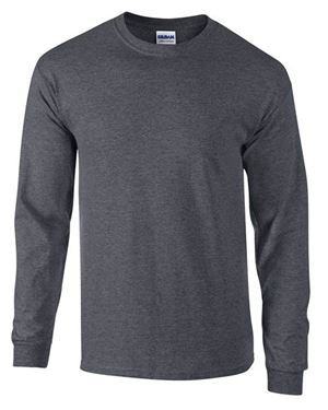 Picture of Ultra Cotton Adult Long Sleeve T-shirt Gildan Dark Heather