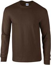 Picture of Ultra Cotton Adult Long Sleeve T-shirt Gildan Dark Chocolate