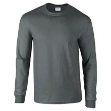 Picture of Ultra Cotton Adult Long Sleeve T-shirt Gildan Charcoal