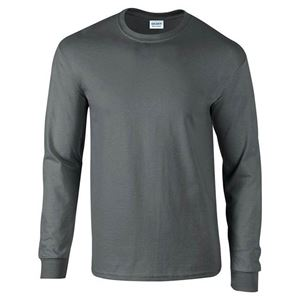 Afbeelding van Ultra Cotton Adult Long Sleeve T-shirt Gildan Charcoal