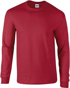 Afbeelding van Ultra Cotton Adult Long Sleeve T-shirt Gildan Cardinal Red
