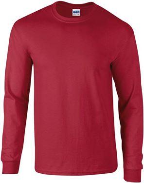 Picture of Ultra Cotton Adult Long Sleeve T-shirt Gildan Cardinal Red