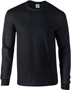 Afbeelding van Ultra Cotton Adult Long Sleeve T-shirt Gildan Black