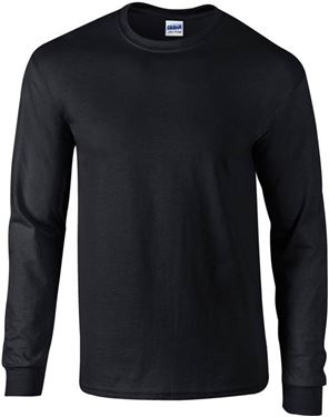 Picture of Ultra Cotton Adult Long Sleeve T-shirt Gildan Black