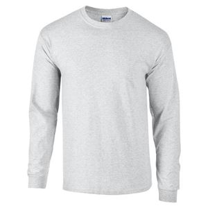Afbeelding van Ultra Cotton Adult Long Sleeve T-shirt Gildan Ash