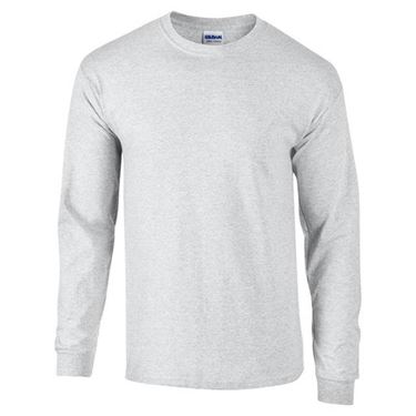 Picture of Ultra Cotton Adult Long Sleeve T-shirt Gildan Ash