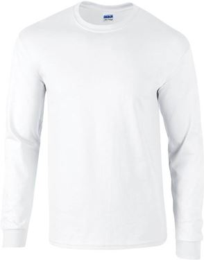Picture of Ultra Cotton Adult Long Sleeve T-shirt Gildan White