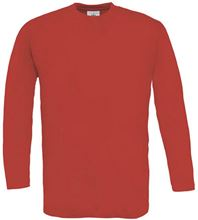 Picture of B&C Exact 150 long sleeve T-shirt Red