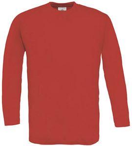 Afbeelding van B&C Exact 150 long sleeve T-shirt Red