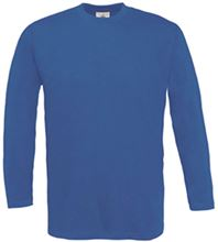Picture of B&C Exact 150 long sleeve T-shirt Royal Blue