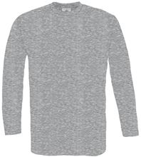 Picture of B&C Exact 150 long sleeve T-shirt Sports Grey