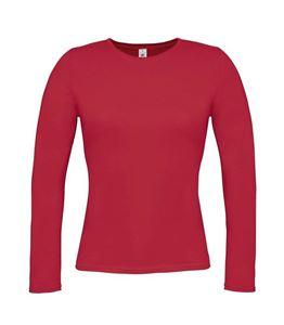 Afbeelding van B&C Women T-shirt Women-Only Longsleeve T, Deep Red