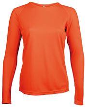 Picture of Dames Sport T-shirt lange mouw Proact Fluoriserend Oranje