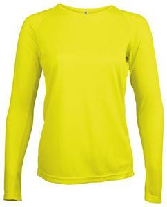 Afbeelding van Dames Sport T-shirt lange mouw Proact Fluoriserend Geel