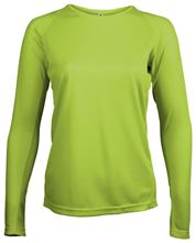 Picture of Dames Sport T-shirt lange mouw Proact Lime