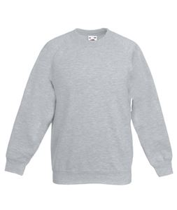 Afbeelding van Kids Raglan Sweat Fruit of the Loom Heather Grey