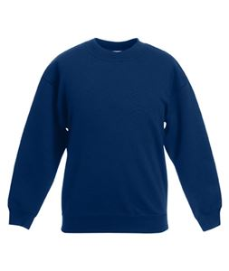 Afbeelding van Classic kids set-in sweatshirt Fruit of the Loom Navy