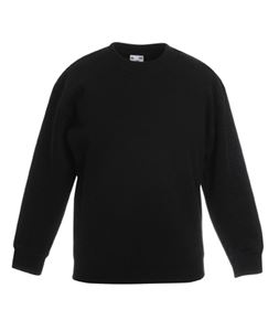 Afbeelding van Classic kids set-in sweatshirt Fruit of the Loom Black