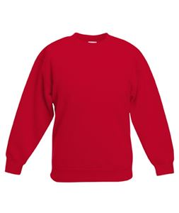 Afbeelding van Classic kids set-in sweatshirt Fruit of the Loom Red