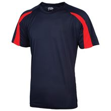 Picture of Kids Contrast Cool T French Navy / Fire Red