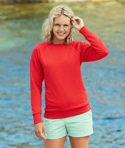 Afbeelding van Lady-fit lightweight raglan sweatshirt Fruit of the Loom
