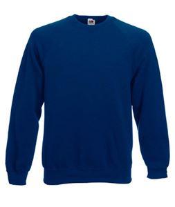 Afbeelding van Classic Raglan Sweater Fruit of the Loom Navy