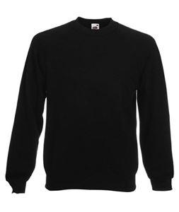 Afbeelding van Classic Raglan Sweater Fruit of the Loom Black