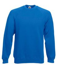Picture of Classic Raglan Sweater Fruit of the Loom Royal Blue