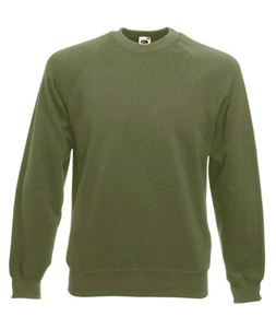 Afbeelding van Classic Raglan Sweater Fruit of the Loom Classic Olive