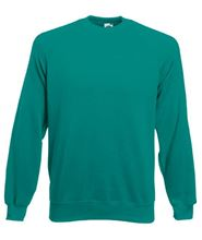 Picture of Classic Raglan Sweater Fruit of the Loom Emerald