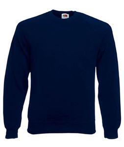 Afbeelding van Classic Raglan Sweater Fruit of the Loom Deep Navy