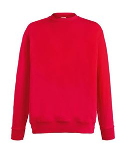 Afbeelding van Lightweight set-in sweatshirt Fruit of the Loom Red