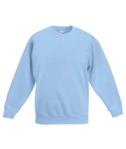 Afbeelding van Premium set-in Kids sweatshirt Fruit of the Loom Sky Blue
