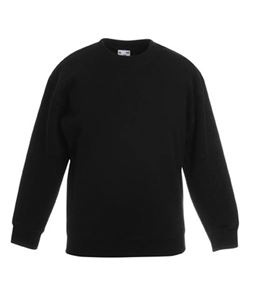 Afbeelding van Premium set-in Kids sweatshirt Fruit of the Loom Black
